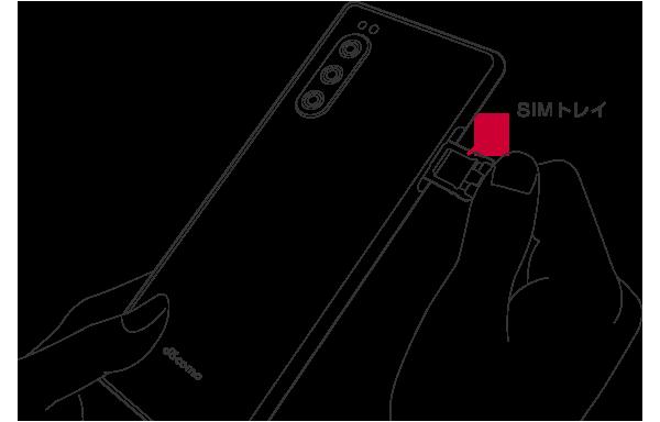 STEP 03 SIMカードトレイを開ける